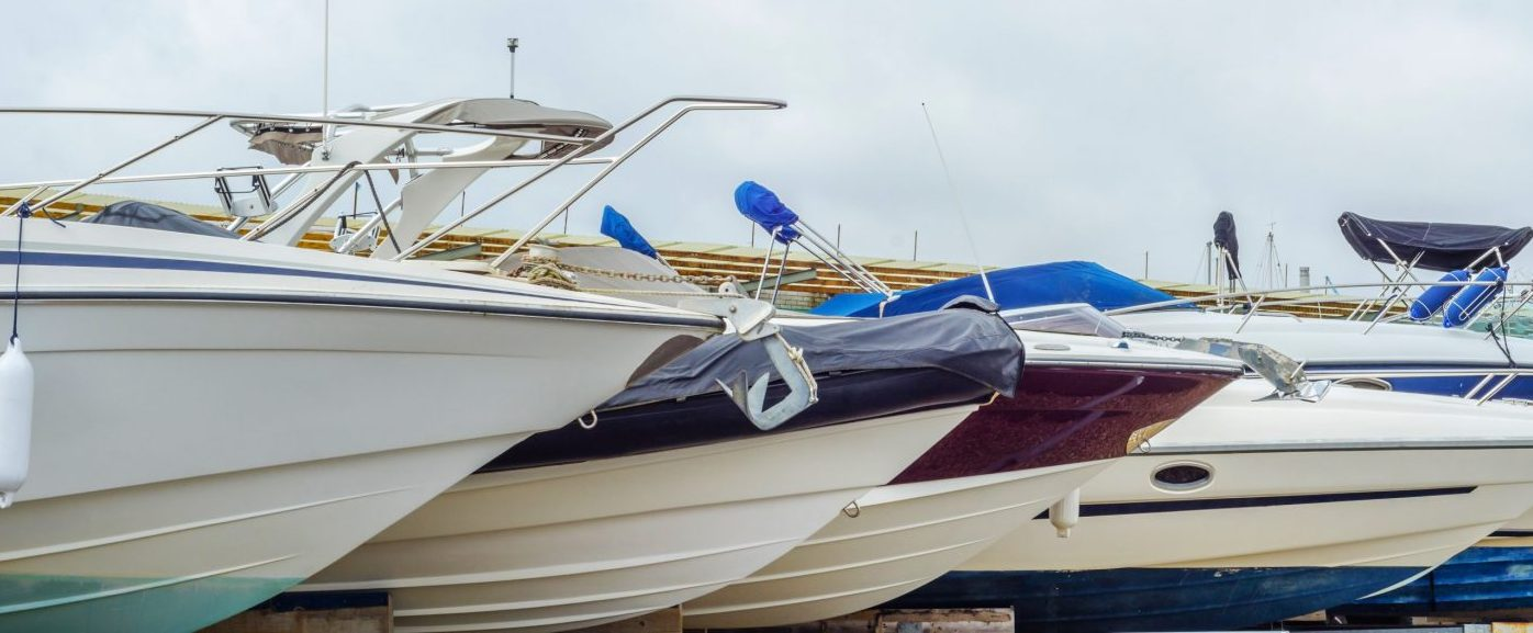 boats stored outdoors
