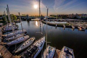 Boat Yard at dusk
